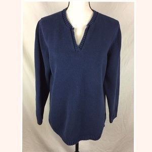 Eddie Bauer Navy Blue XL Sweater V-Neck